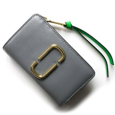 マークジェイコブス 二つ折り財布 財布 レディース スナップショット スレートグレーマルチ M0013356 990 1SZ 2018年秋冬新作 MARC JACOBS
