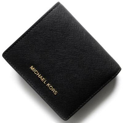 マイケルコース MICHAEL KORS 二つ折り財布【札入れ】/名刺入れ マネー ピーシーズ MONEY PIECES ブラック 32T4GTVF2L 001 レディース