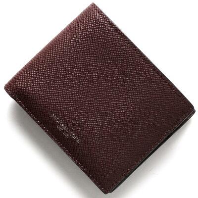 マイケルコース MICHAEL KORS 二つ折り財布 ハリソン HARRISON オックスブラッドレッド 39F5LHRF3L 620 メンズ
