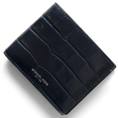 マイケルコース MICHAEL KORS 二つ折財布 ブライアント BRYANT ネイビー 39F6LYTF3E 406 メンズ