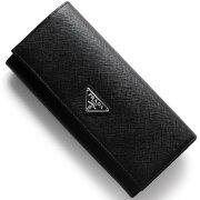 プラダ PRADA 長財布 SAFFIANO TRIANG ブラック 1MH132 QHH F0632 メンズ レディース