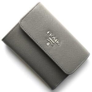 プラダ PRADA 三つ折財布 サフィアーノ メタル SAFFIANO METAL マルモグレー 1MH840 QWA F0K44 レディース