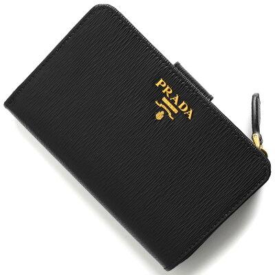 プラダ PRADA 二つ折財布 VITELLO MOVE ブラック 1ML225 2EZZ F0002 レディース