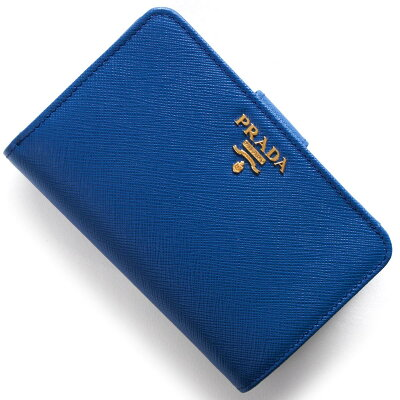 プラダ PRADA 二つ折財布 サフィアーノ メタル SAFFIANO METAL アズーロブルー 1ML225 QWA F0013 2018年春夏新作 レディース