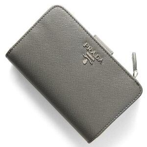 プラダ PRADA 二つ折財布 サフィアーノ メタル SAFFIANO METAL マルモグレー 1ML225 QWA F0K44 メンズ レディース