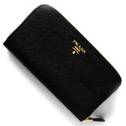 プラダ PRADA 長財布 サフィアーノ メタル SAFFIANO METAL ブラック 1ML348 QWA F0002 レディース