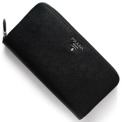 プラダ 長財布 財布 レディース SAFFIANO COLOUR ブラック&ムゲットピンク 1ML506 2E6V F0LN1 PRADA