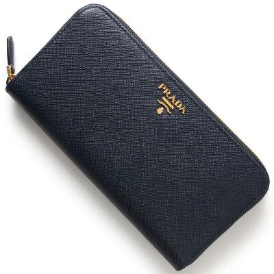 プラダ 長財布 財布 レディース SAFFIANO METAL バルティコブルー 1ML506 QWA F0216 PRADA