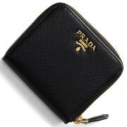 プラダ PRADA 二つ折財布 サフィアーノ メタル SAFFIANO METAL ブラック 1ML522 QWA F0002 レディース