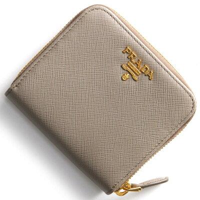 プラダ PRADA 二つ折財布 サフィアーノ メタル SAFFIANO METAL アルジッラグレージュ 1ML522 QWA F0572 レディース