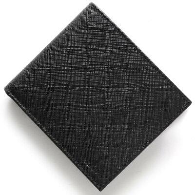プラダ PRADA 二つ折財布 SAFFIANO ブラック 2MO738 053 F0002 メンズ