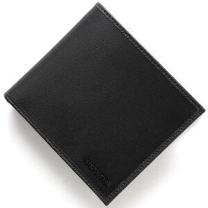 プラダ PRADA 二つ折財布 SAFFIANO ブラック 2MO738 074 F0002 メンズ