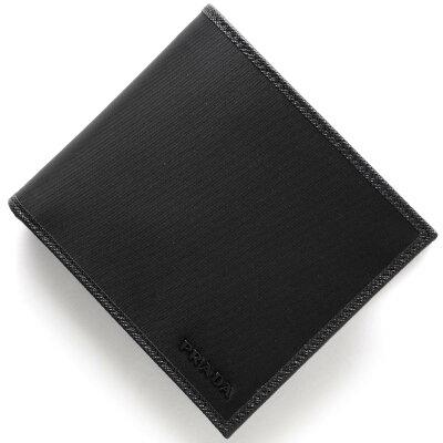 プラダ PRADA 二つ折り財布 SAFFIANO ブラック 2MO738 074 F0002 メンズ