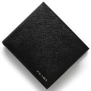 プラダ PRADA 二つ折財布 サフィアーノ ビコローレ SAFFIANO BICOLO ブラック&マーキュリオグレー 2MO738 2E26 F0R8F メンズ