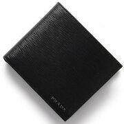 プラダ PRADA 二つ折財布 ヴィッテロ ムーブ VITELLO MOVE ブラック 2MO738 2EZZ F0002 メンズ