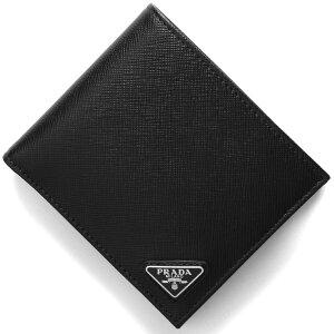 プラダ 二つ折り財布 財布 メンズ SAFFIANO TRIANG ブラック 2MO738 QHH F0002 PRADA
