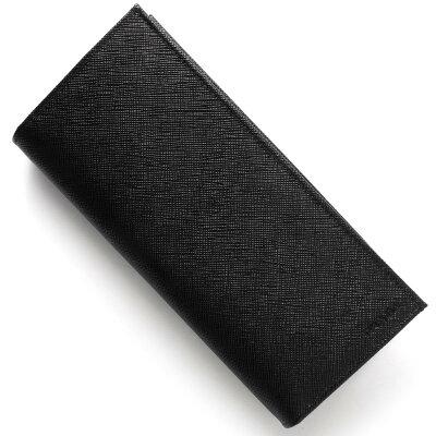 プラダ PRADA 長財布 SAFFIANO ブラック 2MV836 053 F0002 メンズ