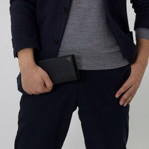 プラダ 長財布 財布 メンズ SAFFIANO CUIR B 三角ロゴプレート ブラック 2MV836 2E3E F0002 PRADA