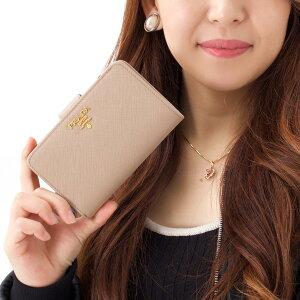 プラダ 二つ折り財布 財布 レディース SAFFIANO METAL カメオベージュ 1ML225 QWA F0770 PRADA