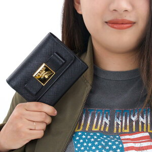 プラダ 三つ折り財布 財布 レディース サフィアーノ フィオーコ SAFFIANO FIOCCO リボン ブラック 1MH840 2AEE F0002 PRADA