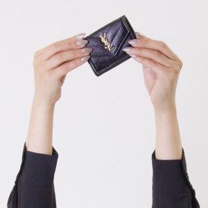 サンローランパリ イヴサンローラン 財布 三つ折り財布 財布 レディース モノグラム YSL ブラック 505118 BOWA1 1000 SAINT LAURENT PARIS