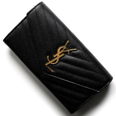 サンローランパリ イヴサンローラン 財布 長財布 財布 レディース モノグラム YSL ブラック 372264 BOW01 1000 SAINT LAURENT PARIS