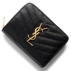 サンローランパリ イヴサンローラン 財布 SAINT LAURENT PARIS 二つ折財布 モノグラム MONOGRAMME YSL ブラック 403723 BOW01 1000 レディース