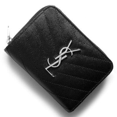 サンローランパリ 二つ折り財布 財布 レディース モノグラム MONOGRAMME YSL ブラック 403723 BOW02 1000 SAINT LAURENT PARIS