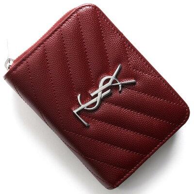 サンローランパリ 二つ折り財布 財布 レディース モノグラム MONOGRAMME YSL パリスサンデールレッド 403723 BOW02 6219 SAINT LAURENT PARIS