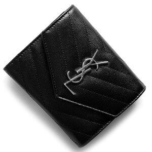 サンローランパリ イヴサンローラン 財布 SAINT LAURENT PARIS 三つ折財布 モノグラム MONOGRAMME YSL ブラック 403943 BOW02 1000 2017年秋冬新作 レディース