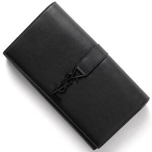 サンローランパリ SAINT LAURENT PARIS 長財布 YSL LINE ブラック 414567 BJ54U 1000 メンズ レディース