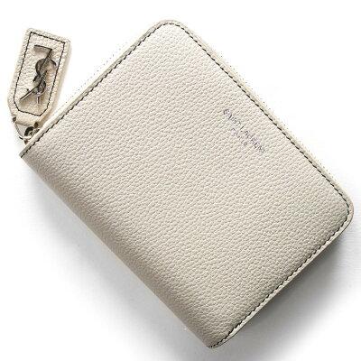 サンローランパリ 二つ折り財布 財布 レディース リヴ・ゴージュ RIVE GAUCHE YSL アイボリーライトグレージュ 414661 B68YN 1766 SAINT LAURENT PARIS