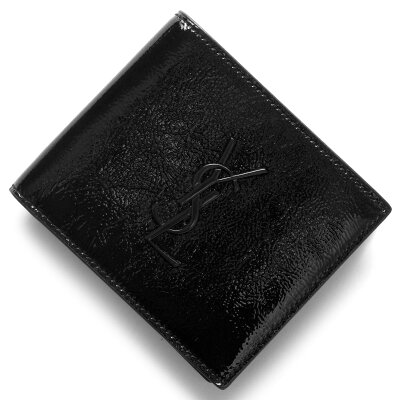 サンローランパリ イヴサンローラン 財布 SAINT LAURENT PARIS 二つ折財布【札入れ】 モノグラム YSL MONOGRAMME ブラック 453276 AB90U 1000 メンズ