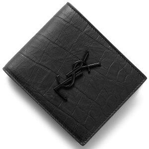 サンローランパリ イヴサンローラン 財布 SAINT LAURENT PARIS 二つ折財布【札入れ】 モノグラム YSL MONOGRAMME ブラック 453276 C9H0U 1000 メンズ