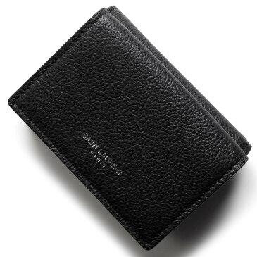 サンローランパリ イヴサンローラン 三つ折り財布/ミニ財布 財布 レディース クラシック ブラック 459784 B680N 1000 SAINT LAURENT PARIS