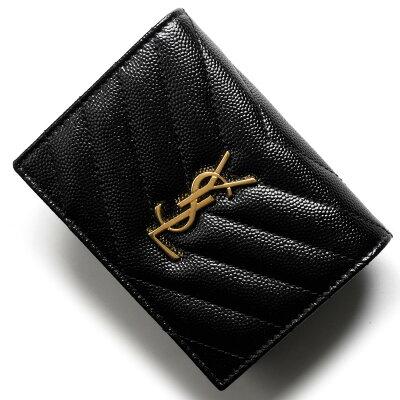 サンローランパリ イヴサンローラン 財布 二つ折り財布 財布 レディース モノグラム YSL ブラック 530841 BOWA1 1000 SAINT LAURENT PARIS