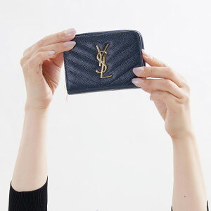 サンローランパリ 二つ折財布 財布 レディース モノグラム YSL ネイビー 403723 BOW01 4128 2018年秋冬新作 SAINT LAURENT PARIS