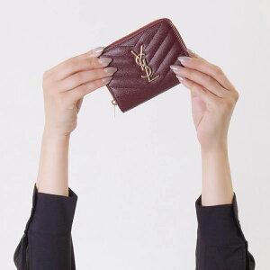 サンローランパリ イヴサンローラン 財布 二つ折り財布 財布 レディース モノグラム YSL ルージュレギオン 403723 BOW01 6475 SAINT LAURENT PARIS