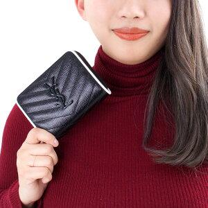 サンローランパリ 二つ折り財布 財布 レディース モノグラム MONOGRAMME YSL ブラック&ブランオプティックホワイト 403723 BOWC8 1095 SAINT LAURENT PARIS