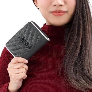サンローランパリ 二つ折り財布 財布 レディース モノグラム MONOGRAMME YSL アスファルトグレー&ホワイト 403723 BOWF2 1292 SAINT LAURENT PARIS