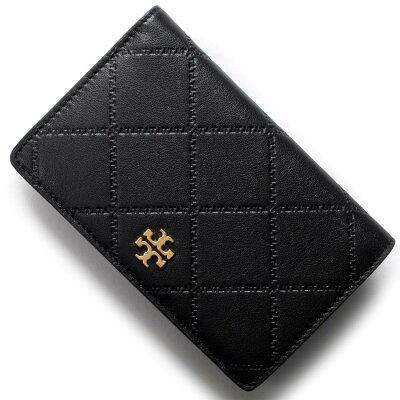 トリーバーチ TORY BURCH 二つ折り財布 ジョージア/GEORGIA ブラック 39960 001 2018年春夏新作 レディース
