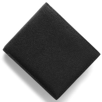 ヴァレクストラ VALEXTRA 二つ折財布【札入れ】 ブラック V8L04 028 N メンズ