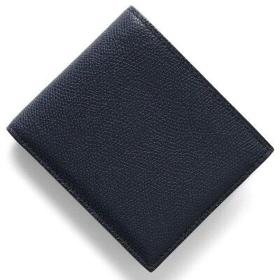ヴァレクストラ VALEXTRA 二つ折財布【札入れ】 ブルー V8L04 028 U メンズ
