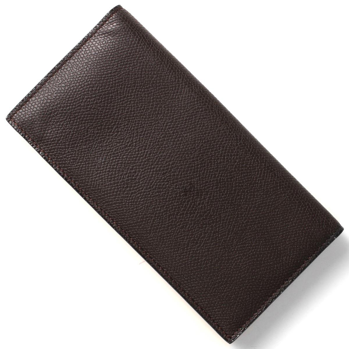 ヴァレクストラ VALEXTRA 長財布【札入れ】 モロブラウン V8L21 028 T メンズ レディース:ブルークウォッチカンパニー