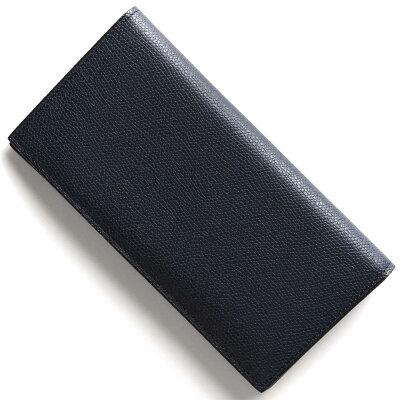 ヴァレクストラ VALEXTRA 長財布【札入れ】 ブルー V8L21 028 U メンズ レディース