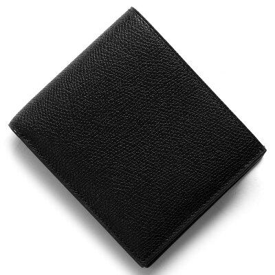 ヴァレクストラ VALEXTRA 二つ折財布 ブラック V8L23 028 N メンズ レディース