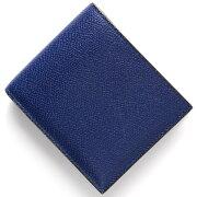 ヴァレクストラ VALEXTRA 二つ折財布 ロイヤルブルー V8L23 028 RO メンズ レディース