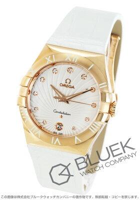 オメガ OMEGA 腕時計 コンステレーション ダイヤ RG金無垢 アリゲーターレザー レディース 123.53.35.60.52.001