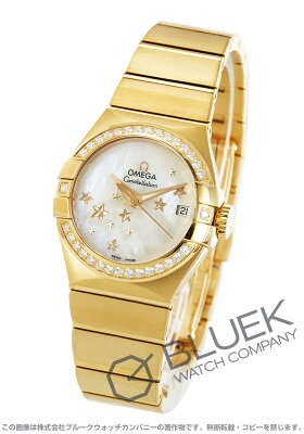 オメガ コンステレーション ブラッシュ ダイヤ YG金無垢 腕時計 レディース OMEGA 123.55.27.20.05.001