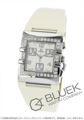 オメガ OMEGA 腕時計 コンステレーション クアドラ ダイヤ サテンレザー レディース 1847.35.71